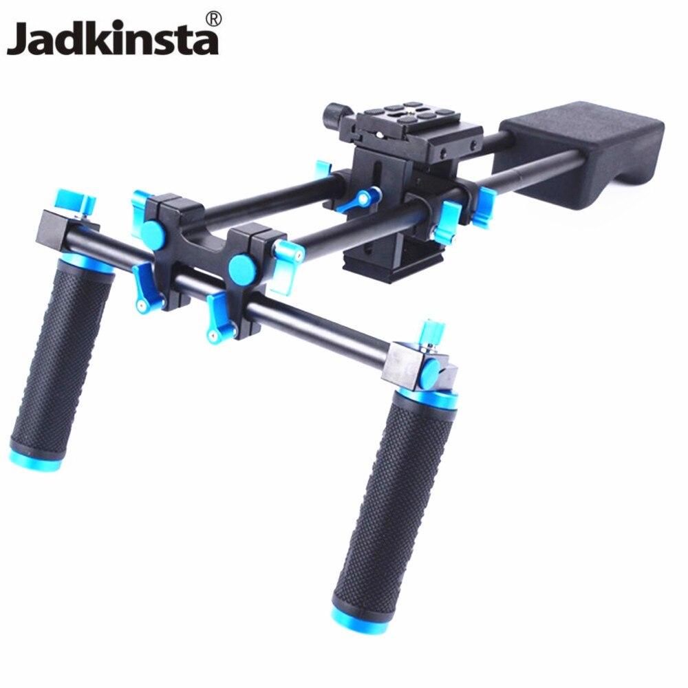 Jadkinsta Camera Mount Head Handheld Grip Video Shoulder Pad Support System 15mm Rod Clamp Camera Quick