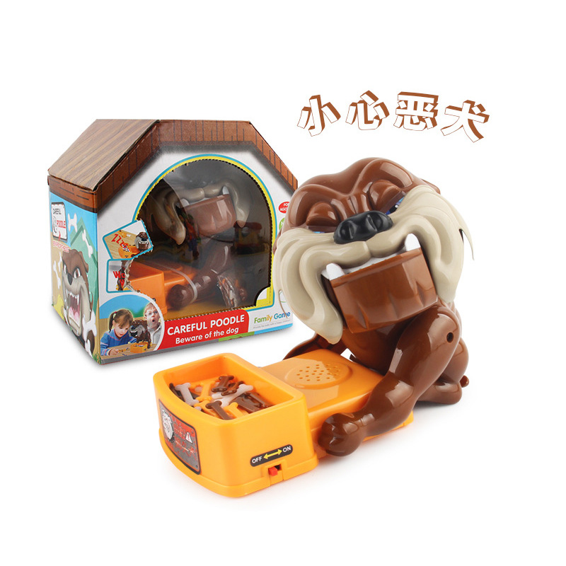 Free Shipping Practical Jokes Toys Dogs Food Bowl Dentist Parent-child Funny Game Family interactive Pet Toy Gifts creative kids monkey falling toy tumbling monkey parent child interactive game children learning educational toys fast shipping