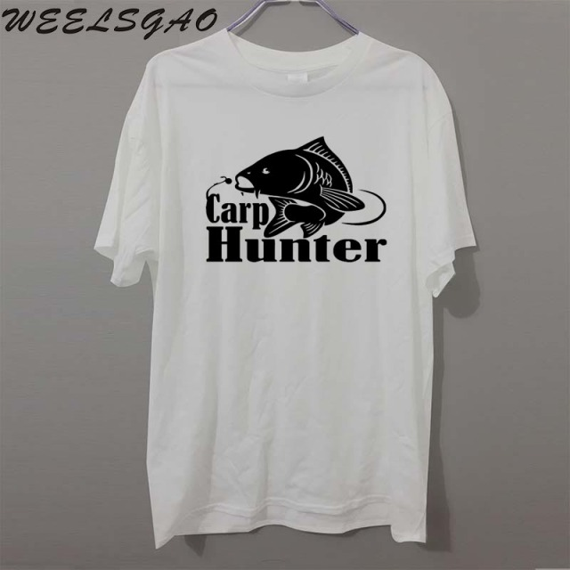 edea64d0c Carp Hunter Fish Fisherman FUNNY PRINTED MENS T-SHIRT GIFT JOKE NOVELTY  Short Sleeve Cotton T SHIRT
