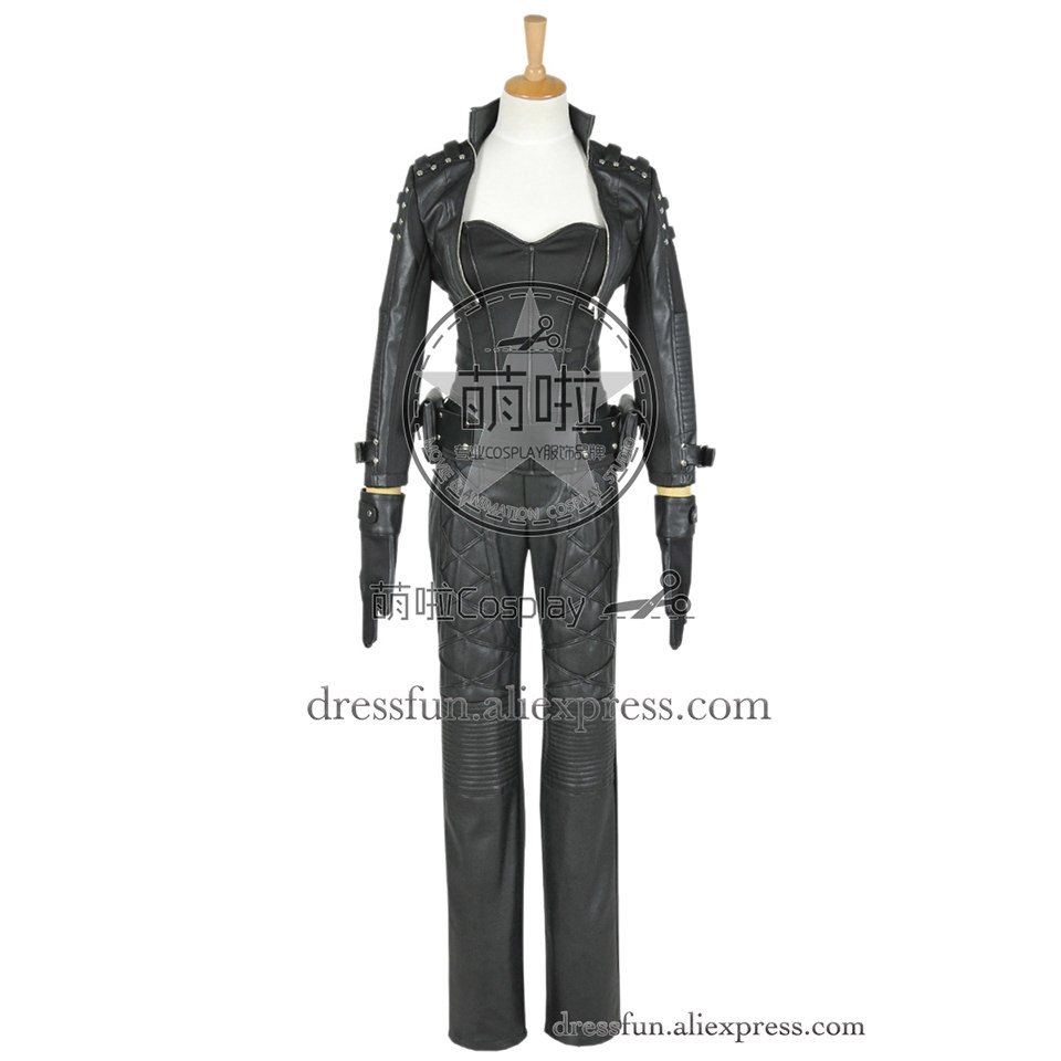 Green Arrow Cosplay Black Canary Sara Lance Costume Outfits Full Set Uniform Jacket Party Halloween Coat Fast Shipping