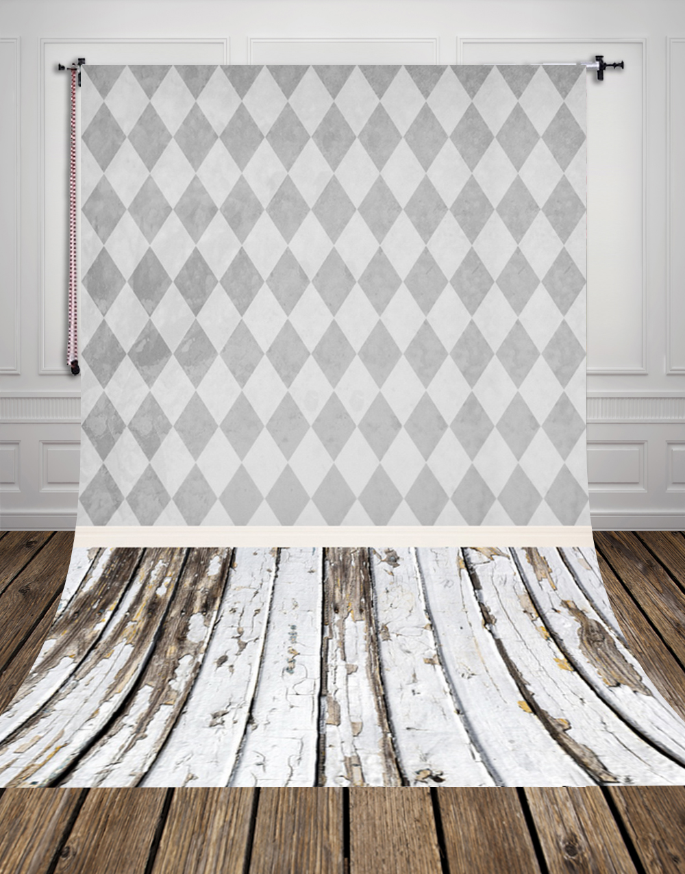 5x10ft(1.5x3m) Seamless quadrilateral wall paper with wood floor photo studio background backdrop made of thin vinyl D-9693