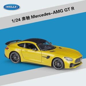 Image 4 - Welly ダイキャスト 1:24 スケール合金レーシングカーモデルカーメルセデスベンツ AMG GTR スポーツカー金属おもちゃの車おもちゃギフトコレクション