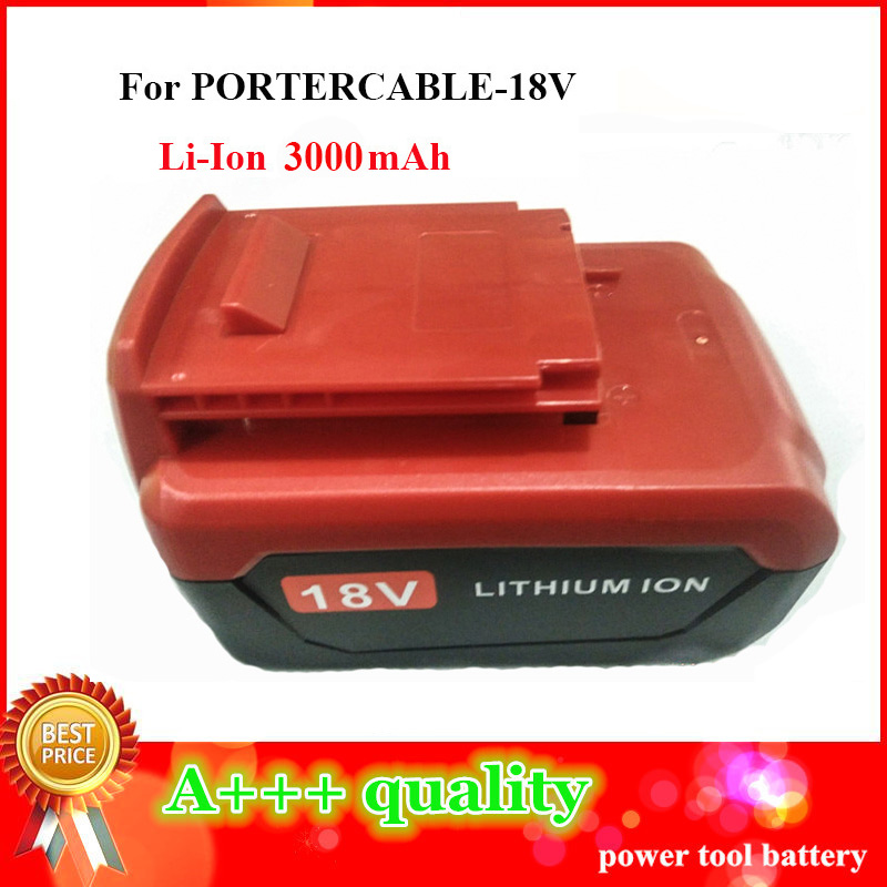 High Quality 18V 3.0Ah Li-ion Old version Replacement Power Tool Battery For PORTER CABLE PCB18LX high quality 20v 2000mah li ion rechargeable battery power tool replacement battery for black