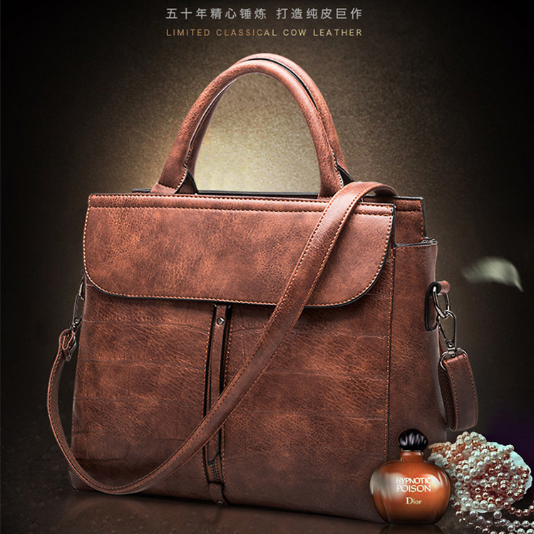 ФОТО 2017  women's cowhide genuine leather handbag fashionable casual bags one shoulder handbag messenger bag  M24