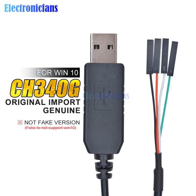 Оригинальный последовательный кабель для скачивания CH340G CH340 USB в TTL, преобразователь, Проводной адаптер, совместимый с Win 7/8/10 для Arduino Raspberry Pi