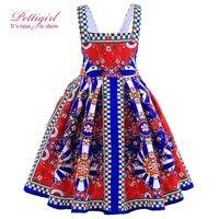 Pettigirl Summer Girls Dress Sling Jacquard Princess Baby Dresses Patterns Boutique Kids Clothes GD90129-582F