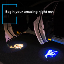 2pcs Welcome Lamp  Car Logo Ghost Shadow Laser Projector For Mercedes Benz Audi Nissan Jeep Led Door Light