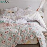 KELUO Luxury Bedding Set Duvet Cover Bedclothes Print Bedding Sets 3 4PCS AU Queen Flower Bohemian