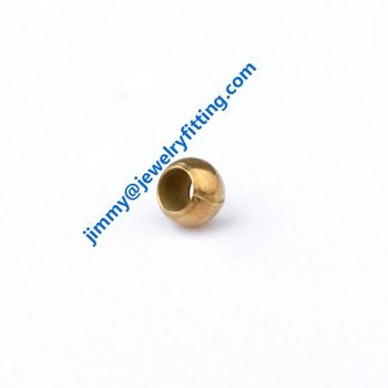 metal jewelry findings brass cimp baeds 3.5mm crimp tube fashion jewelry accessories raw brass