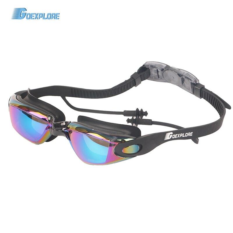 Goexplore Swimming Goggles Adult Clear Anti-Fog UV Protection Waterproof Swim Glasses With Earplugs Sport Eyewear Men Women