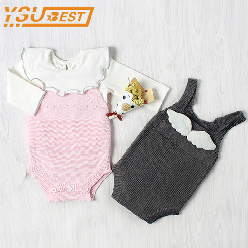 Baby Boys Girls Romper Baby Cute Sweater Overall Rompers ...