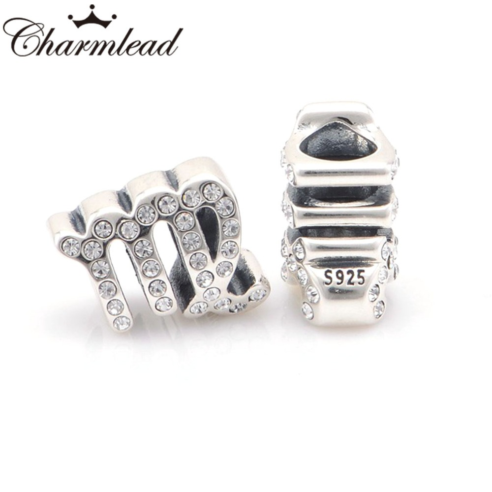 2015 Release Sterling Silver Virgo Star Sign Charm Bead Fits All European DIY Bracelets Necklaces