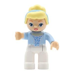 Image 5 - Castle figure Prince Princess Doll Set Bricks Big Particles Building Blocks Compatible with Duplo DIY Accessory Toys For Kid
