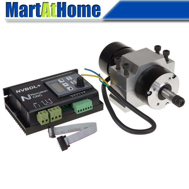 400W 24-60V DC CNC Brushless Spindle Motor Driver Kit no Hall with Control Panel & Mount #SM760 @SD