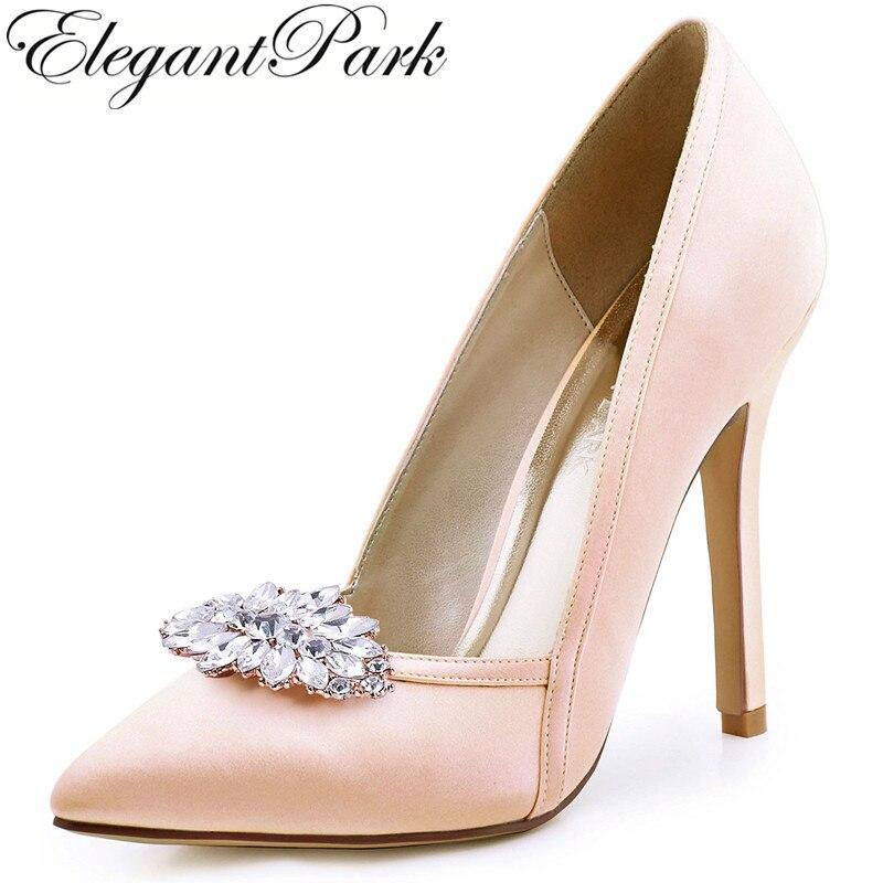 Women's Bridal Shoe Blush Navy Blue High Heels Bride