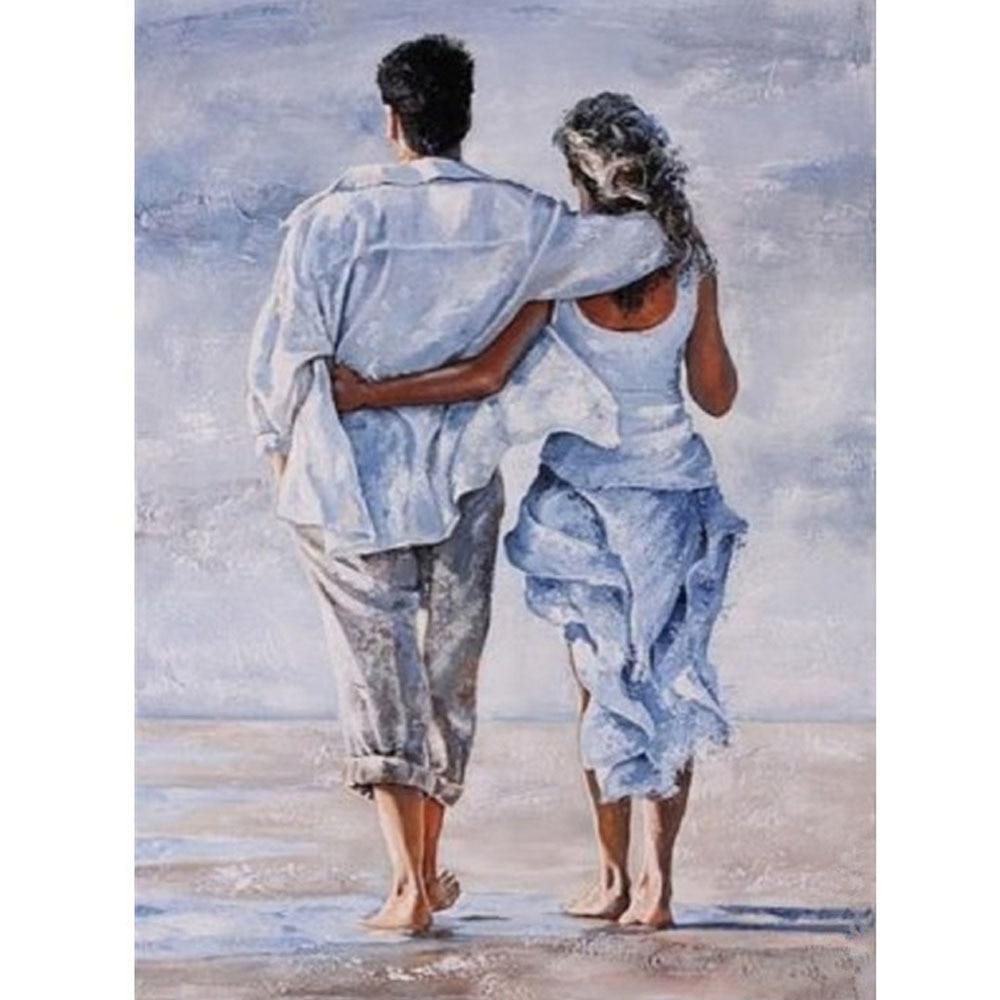 Пожеланиями новый, рисунок мужчины и женщины