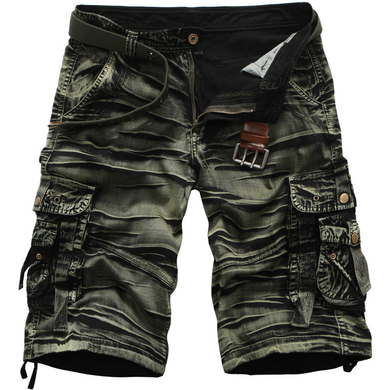 Mens Brand Fashion Camouflage/Camo Shorts Short pantalon Cargo summer trouser casual for men camouflage cotton 7 colors