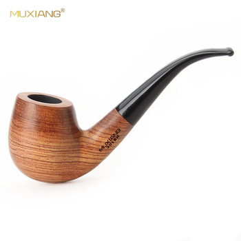 MUXIANG free 10 Tools Set Wooden kevazingo wood Tobacco Pipe with 9 mm filter for Smoking Cleaners Pipe Rack ad0006-1