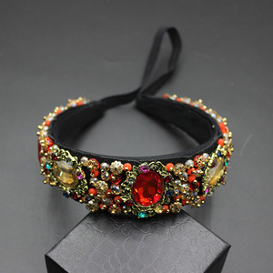 Image 5 - Perles à gemmes pour femmes vintage, bandeau à fleurs style baroque, bonne qualité, luxe, bijoux pour mariée, 609