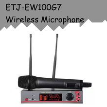 ETJ Model Skilled Wi-fi Microphone System EW100G7 True Variety Double Receiver