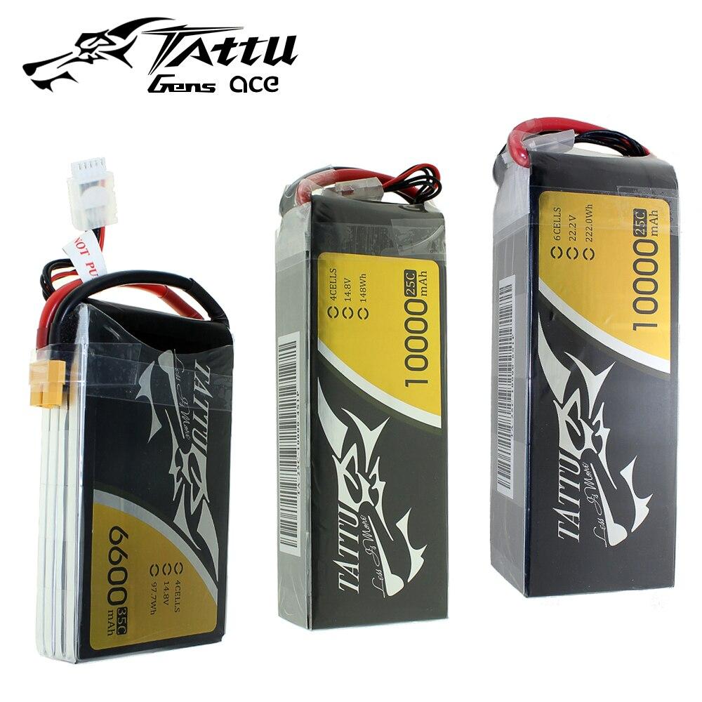 TATTU LiPo 4S 6S de la batería 35C 25C 6600mAh 10000mAh 12000mah 16000mAh más 15C 25C 22,2 V LithiumRC batería