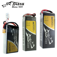 TATTU LiPo 4S 6S Battery 35C 25C 6600mAh 10000mAh 12000mah 16000mAh Plus 15C 25C 22.2V LithiumRC Battery