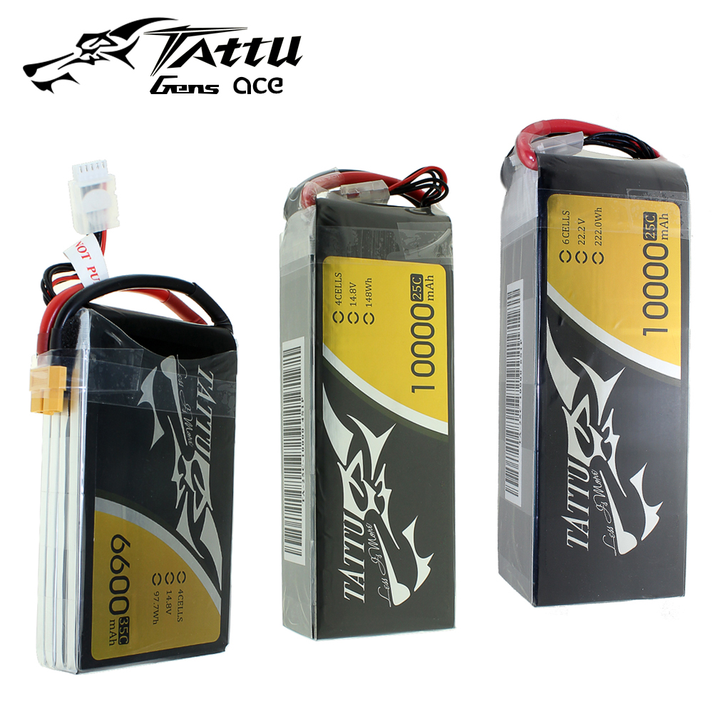 TATTU <font><b>LiPo</b></font> <font><b>4S</b></font> 6S Battery 35C 25C 6600mAh 10000mAh 12000mah <font><b>16000mAh</b></font> Plus 15C 25C 22.2V LithiumRC Battery image