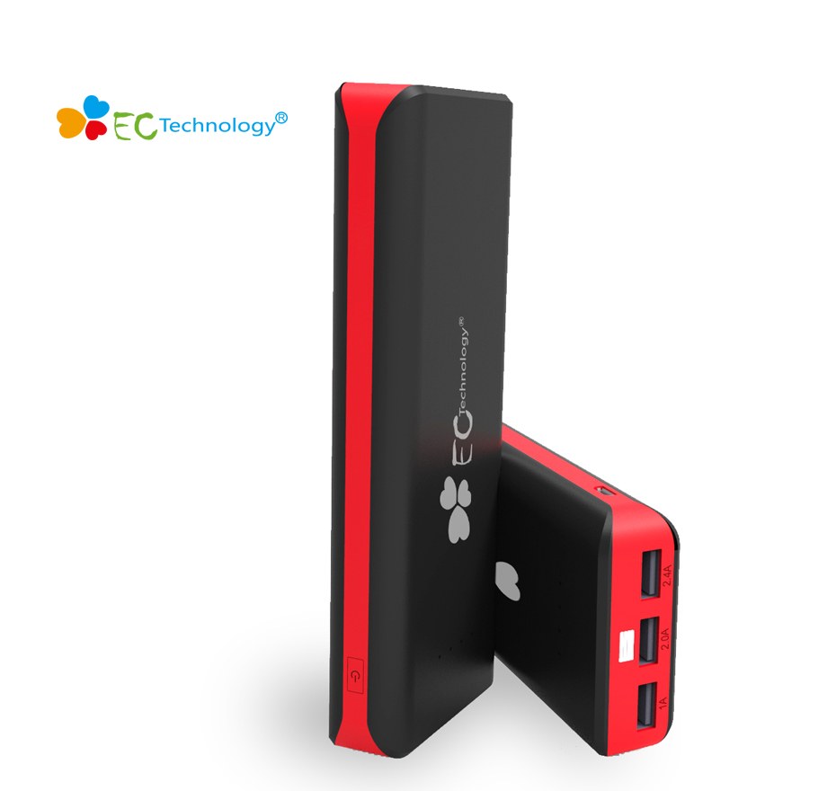 EC Technology 3 Gen 16000 MAh High Capacity 3 USB Outports Ultra Compact Portable Power Bank