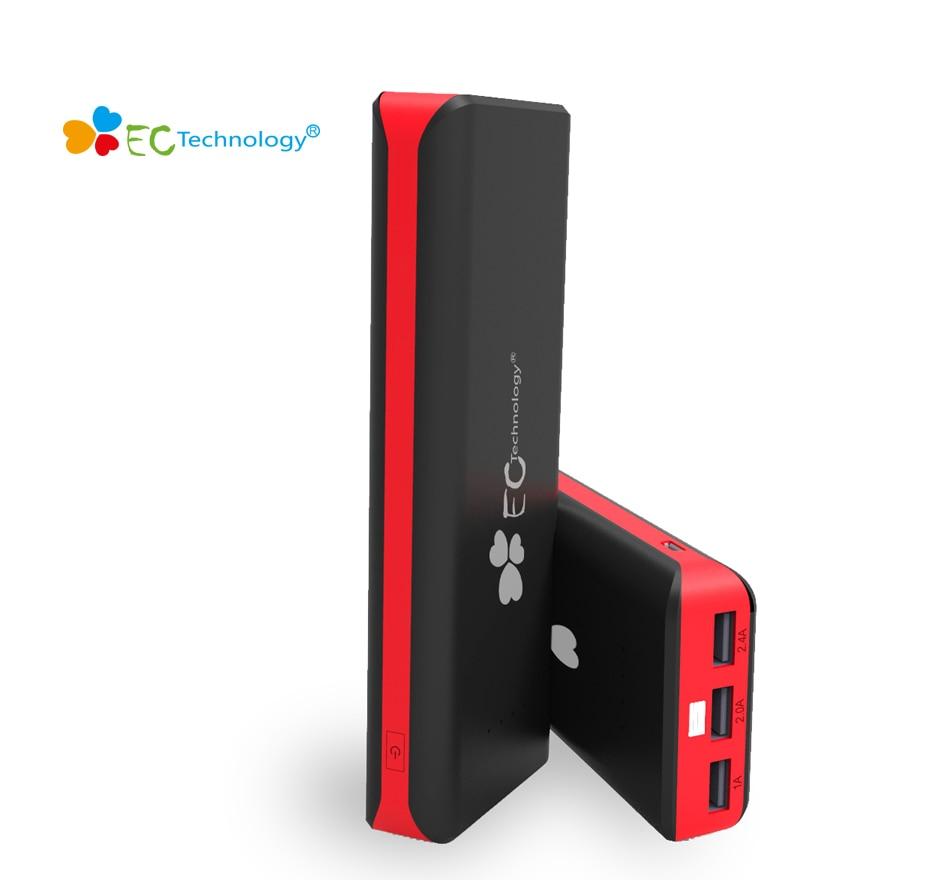 Puissance banque Portable Chargeur Technologie EC Universel Mi Powerbank 16000 mAh Externe Batterie Banque 3 USB Pour Smartphones