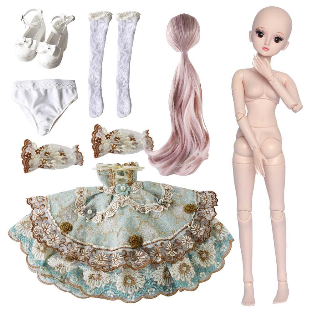 UCanaan 19 Articulações 23.6 ''BJD SD Boneca com Roupa roupas Sapatos Peruca de Cabelo e Maquiagem para o Presente Meninas e Bonecas coleção