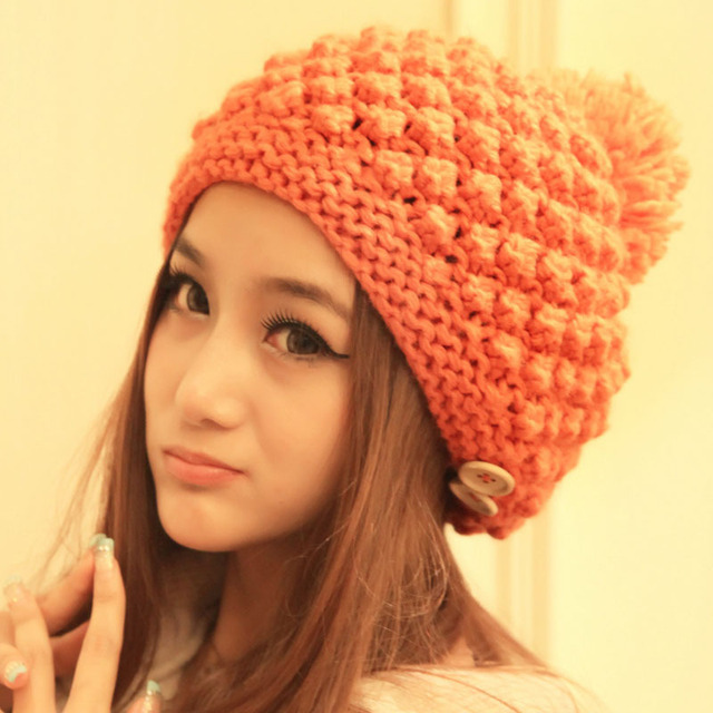 2aa68809142ec New 2014 Fashion Beanies For Woman Flowers Cap Accessories Hot Sale Women  Winter Hats Girls' Warm Wool Twist Knitted Hat