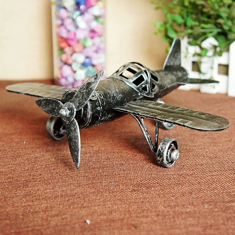 World War II Special offer Retro style Crafts ornaments Iron metal airplane model Gift desk decoration vintage home decor image