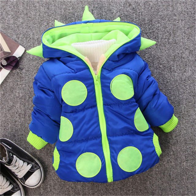 The New Winter 2016Children In The Cotton-Padded Jacket Children's Warm Velvet Thickening Coat Cotton-Padded Jacket.