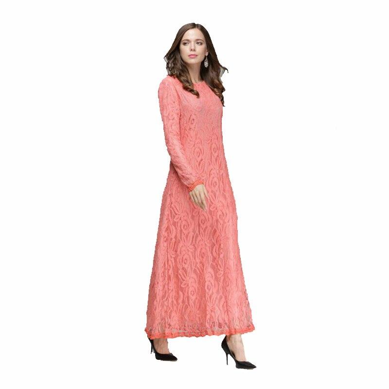 39d11d675e Cheapest Casual Lace hijab long dress arabic fashion islamic clothing abaya  for girls wedding dresses muslim women B8011