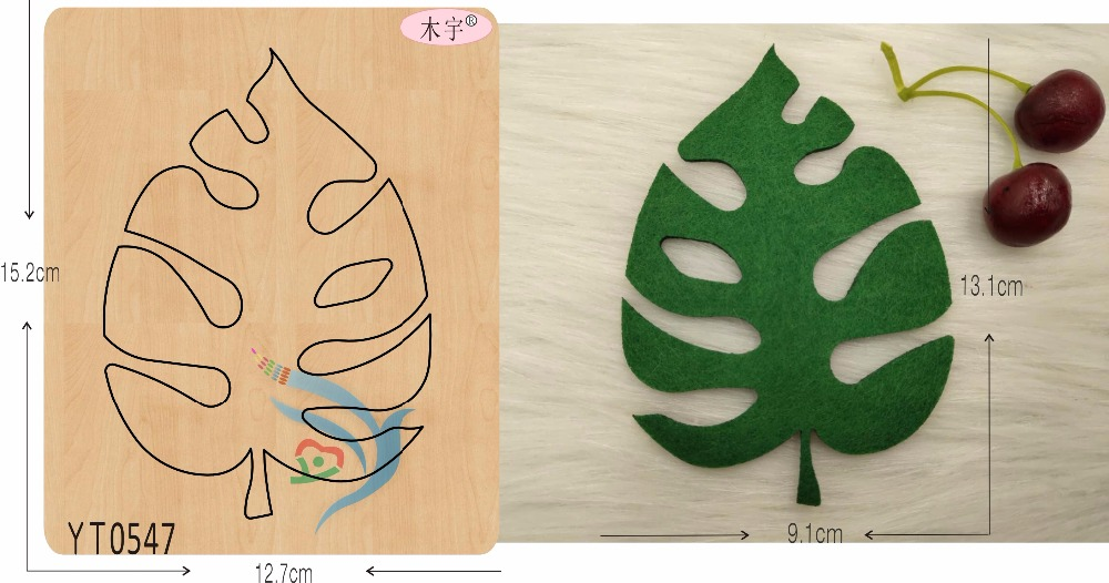 Plant leaves 1 DIY new wooden mould cutting dies for scrapbooking Thickness 15 8mm YT0547