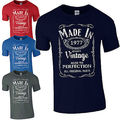 Made in 1977 T-Shirt Born 39th Year Birthday Age Present Vintage Funny Mens Gift