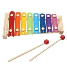 Музыкальный инструмент, игрушка деревянная рамка стиль ксилофон для детей музыкальные забавные игрушки детские развивающие игрушки подарки