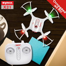 2017 Syma Drone Nuevo Estilo RC Quacopter X21 2.4G 4CH Helicóptero con Modo Sin Cabeza Neumática Fija hover alta sin cámara