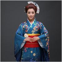 High Quality Japanese Women Traditional Kimono Yukata With Obi Sexy Bar Costume Cosplay Costume Vintage Prom Dress One Size B 04