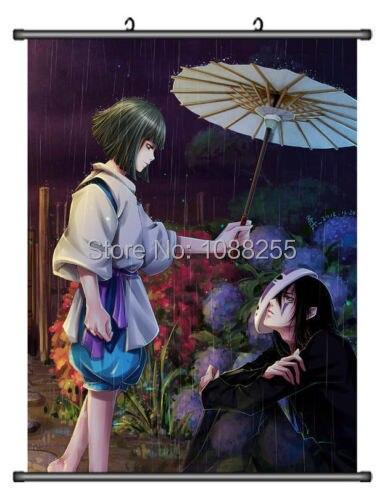 Miyazaki sans visage Kaonashi décor à la maison affiche mur défilement Japanse