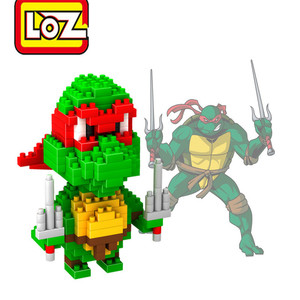 Mini Nano Block LOZ 3D Model Anime Cute Turtles Kawaii Action Figure Diy Diamomd Educational Building Blocks Toys For Kids 9148