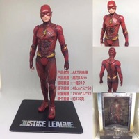 JHACG Justice Leagu 18cm Flash Man Super Hero Action Figure Toys Doll Christmas Gift With Box