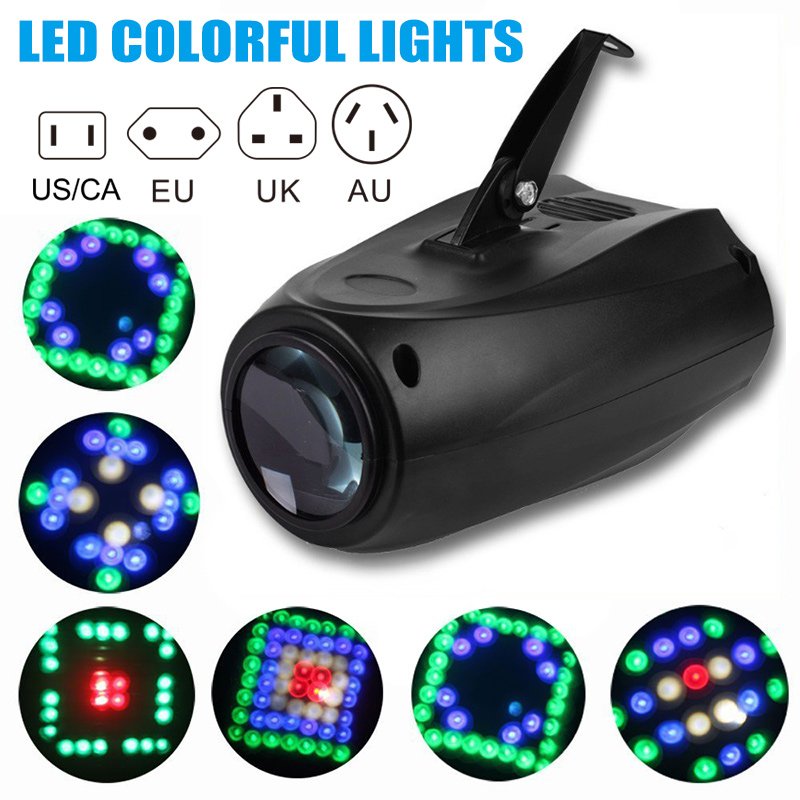 64 LEDs RGBW Single Head Activated Projector Light for DJ Party Wedding Events Club TB Sale