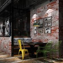 Retro Nostalgic Gray Cement Brick Wall Industrial Wind Cafe Restaurant Background