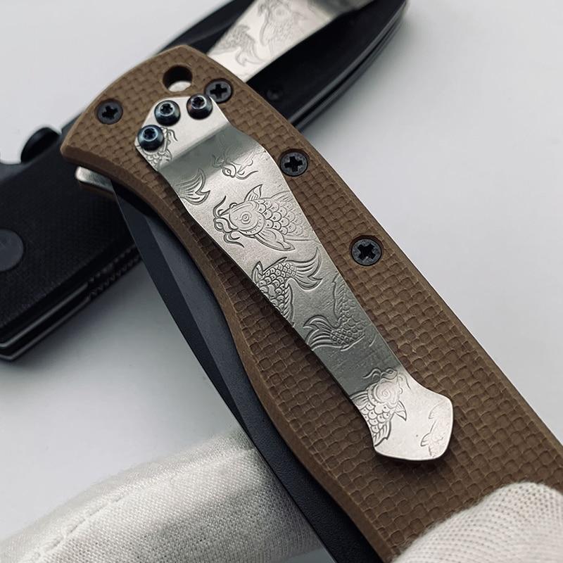 Koi Design Titanium Alloy CQC Pocket Knife Clip TC4 ZT Back Clip Titanium Alloy CNC Knife Back Clip