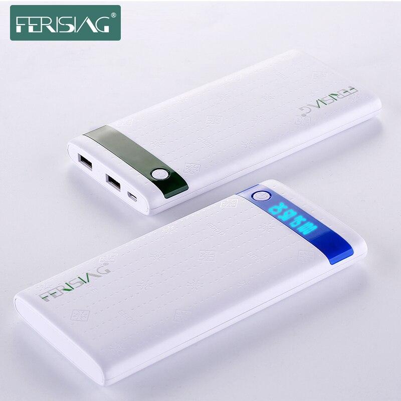 imágenes para Ferising powerbank banco de la energía 10000 mah doble usb con cargador de batería externo portátil de pantalla led para smartphone tablet
