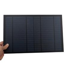 18 в 556ма 10 Вт 10 Вт солнечная панель стандартная ПЭТ поликристаллическая силиконовая Зарядка для 12 В батарея зарядный Модуль Мини Солнечная батарея