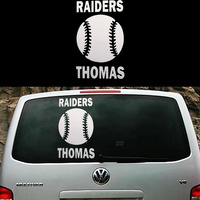Traditional Sports Personalized Baseball Attracts Everyone S Eyes Art Car Stickers Wall Suv Canoe Car Cover