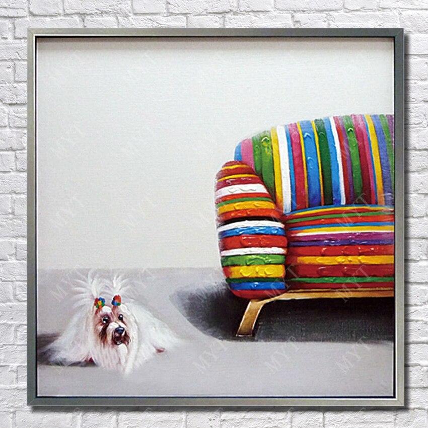 ⑧shaggy Kürk Beyaz Renk Pet Köpek Resimleri El Boyalı Sevimli Köpek