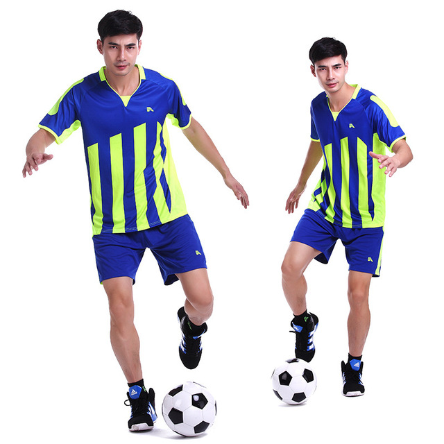 Instock Womens Mens Boys Football Jerseys Training Soccer Sets Anti-Shrink Football  Jersey Sports Uniform Jersey Camisetas de Fu 6763aa50c5